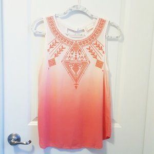 Altar'd State Del Ray Embroidered Dip Dye Blouse